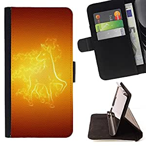 BETTY - FOR Samsung Galaxy Core Prime - Fire Horse - Style PU Leather Case Wallet Flip Stand Flap Closure Cover