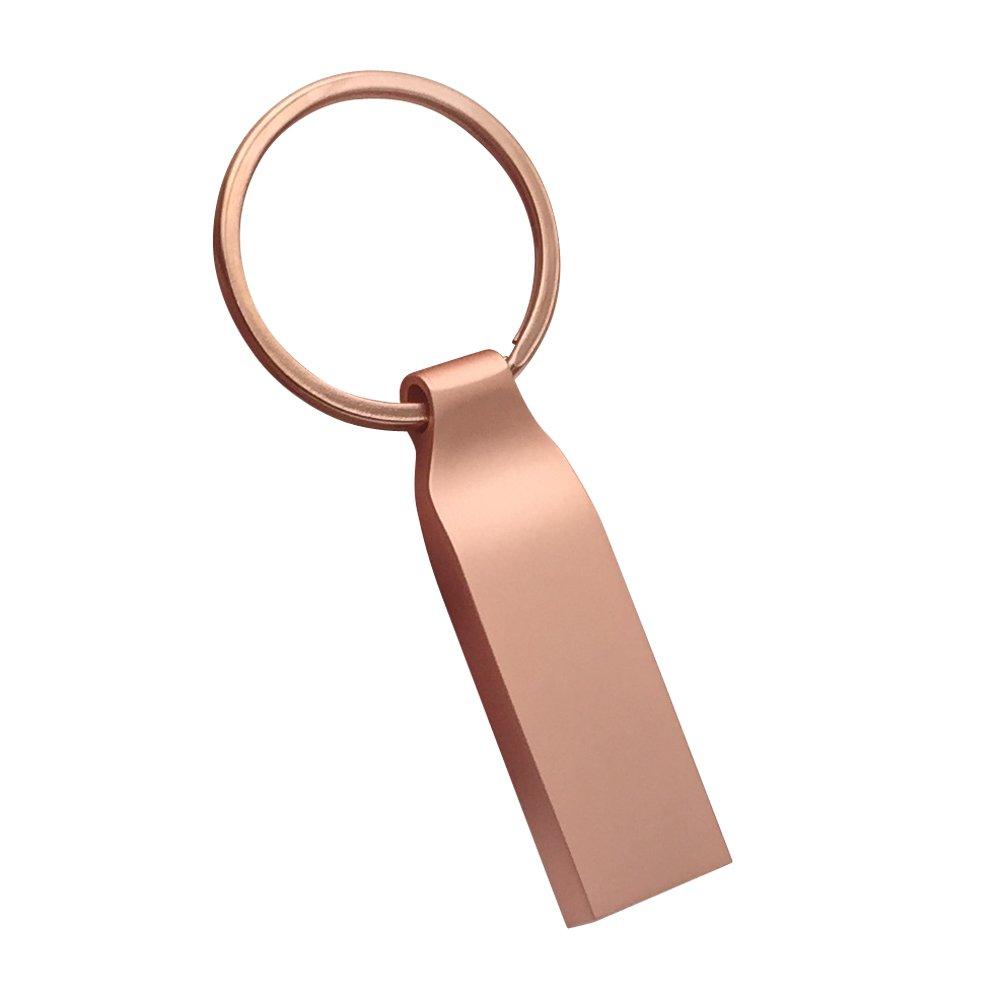zjr usb flash drives 32gb memory stick metal Keychain Design usb 2.0 thumb drive Creativity Compact gift u disk pen drive (32gb, Rose Gold)