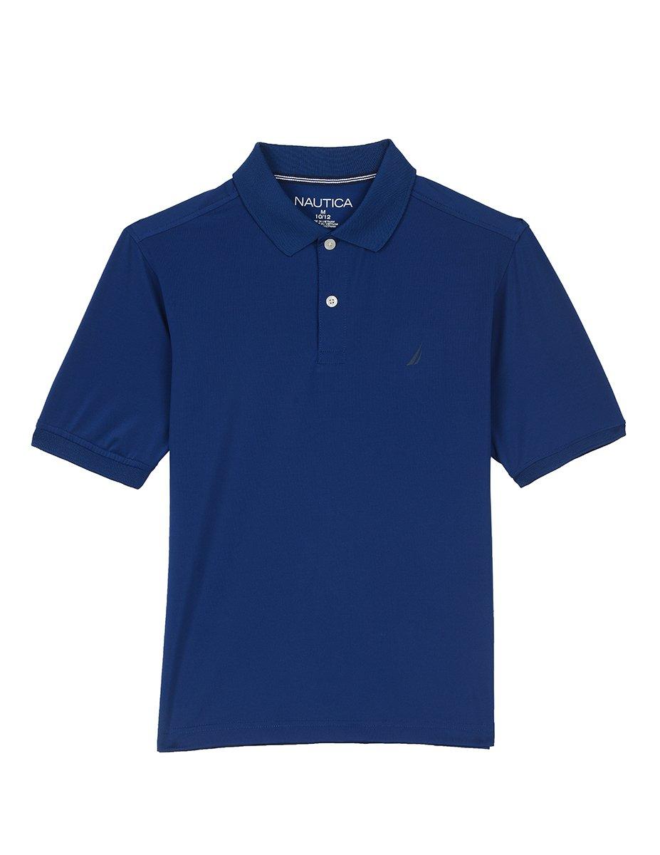 Medium Nautica Boys Short Sleeve Performance Polo Shirt Black