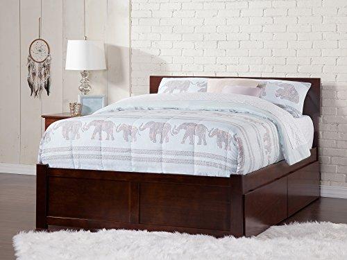 Atlantic Furniture AR8152114 Orlando Platform Bed with 2 Urban Bed Drawers, King, Walnut (Furniture Orlando Wood)