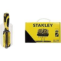 STANLEY STHT0-70885 - Destornillador multipuntas, incluye 33 puntas + STANLEY STHT0-62143 - Set de 57 piezas…