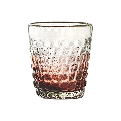 Amici Home A7MCR965S4R Amethyst Ombre Cobblestone DOF Double Old Fashioned Glasses, Ombre-12 Set of 4, Medium/12 oz, ()
