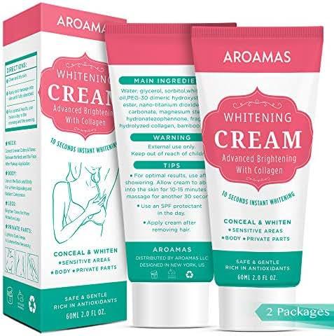 Underarm Whitening Cream,Lightening Cream Effective for Armpit, Knees, Elbows, Sensitive & Private Areas, Whitens, Nourishes, Repairs & Restores Skin(2 pack)