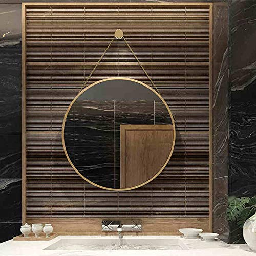 Mirror CAICOLOR Nordic Bathroom Wrought Iron Dressing Makeup Round Fittings Creative (Size : 40cm) by Mirror (Image #1)