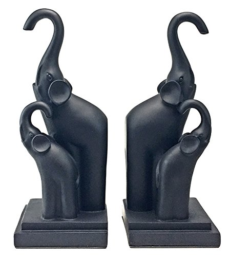 Bellaa Abstarct Elephant Book Ends - Book Organizers - Home Decor/Study Room Accessories - Arts and Crafts/Table Decor/Figurines/Gifts for Kids, Women, Men