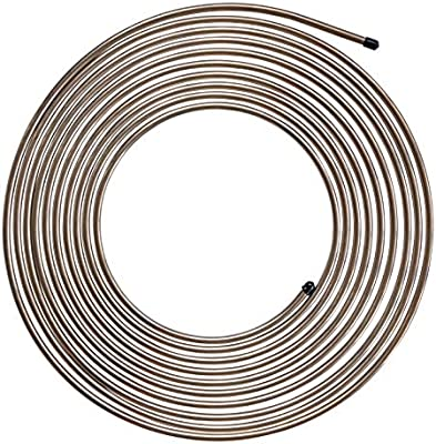 "25 ft 1//4 inch Copper Nickel Coil Brake or Fuel Line Tubing .028/"" Wall Thickness"