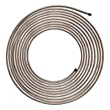 4LIFETIMELINES Copper-Nickel Brake Line Tubing Coil - 1/4 Inch, 25 Feet