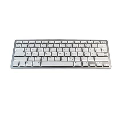 XWEM Ultra-Delgado Mini Teclado Bluetooth 3,0 con múltiples teclados función Multimedia,