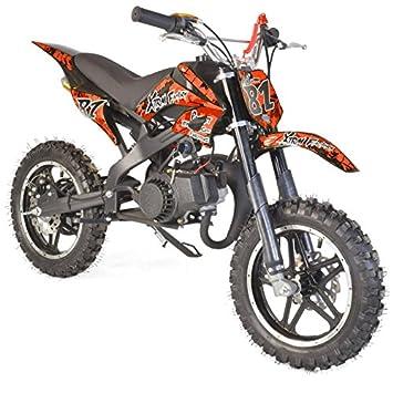 Pocket Bike infantil 50 cc 2T Eco - Naranja, sin montaje, se envía en caja: Amazon.es: Coche y moto