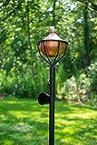 Dusq All-In-One Citronella Garden Torch Modern Copper Finish