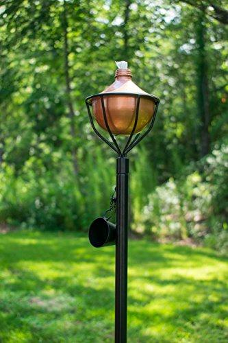 Dusq All-In-One Citronella Garden Torch Modern Copper Finish by Dusq
