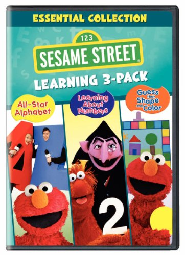 Sesame Street Learning 3-Pack (All-Star Alphabet / Learning About Numbers / Guess That Shape and Color) ()