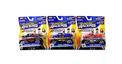 NKOK 1:64 WWE RAGING RACERS MONSTER TRUCK ASSORTMENT 3PCS by NKOK
