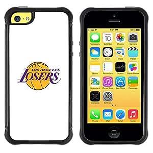 Suave TPU GEL Carcasa Funda Silicona Blando Estuche Caso de protección (para) Apple Iphone 5C / CECELL Phone case / / Angeles Losers Basketball Team Funny /