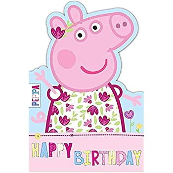 Gemma International Peppa Pig Happy Birthday Card