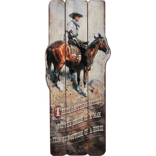 Rivers Edge Products Western Themed Wood Sign