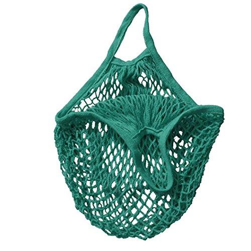 Han Shi Shopping Bag, Women Fashion Mesh Net Turtle Bag Market Fruits Handbag Totes (L, Green)
