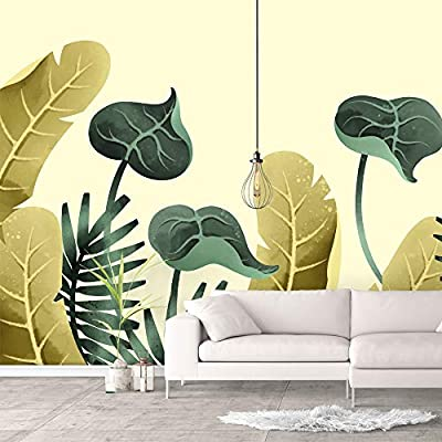 Charming Artistry, Wall Murals for Bedroom Green Plants Animals Removable Wallpaper Peel and Stick Wall Stickers, Professional Creation