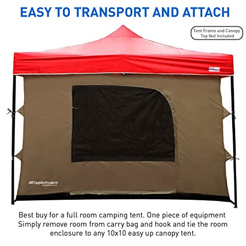 C&ing-Tent-attaches-to-any-10×10-Easy-  sc 1 st  Discount Tents Nova & Camping Tent attaches to any 10u0027x10u0027 Easy Up Pop Up Canopy Tent with ...