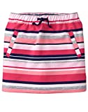 Gymboree Little Girls' Drawstring Front Pocket Knit Skirt, Pink/Grey Stripe, S