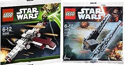 Lego Star Wars Z-95 Headhunter & Kylo Ren's Command Shuttle Starship set - Polybag 30279 + 30240 Force Awakens + Clone Wars edition Building Set