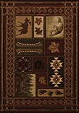 Cheap Area Rug 1'10″x2'8″ Rectangle Southwestern/Lodge Toffee Color – United Weavers Contours Cabin Chalet Collection