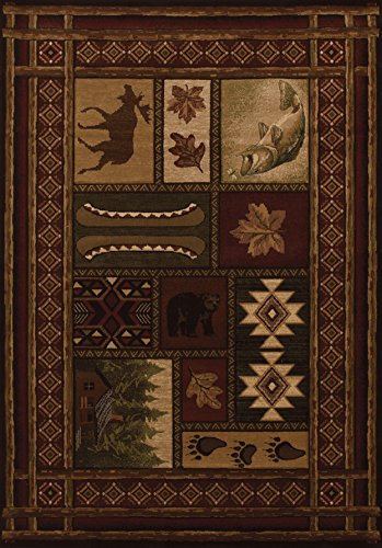 (PlanetRugs Inc United Weavers Contours Cabin Chalet Toffee Accent Colorful Luxury Rug for Bedroom, Living Room, Dining Room 2'7'' x 4'2'')
