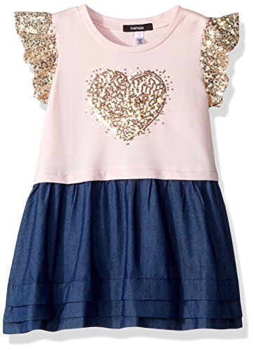 kensie Toddler Girls' Casual Dress, Sequins Heart Blushing Bride, 4T from kensie