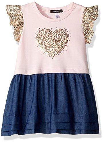 kensie Girls' Little Casual Dress, Sequins Heart Blushing Bride, 4 from kensie