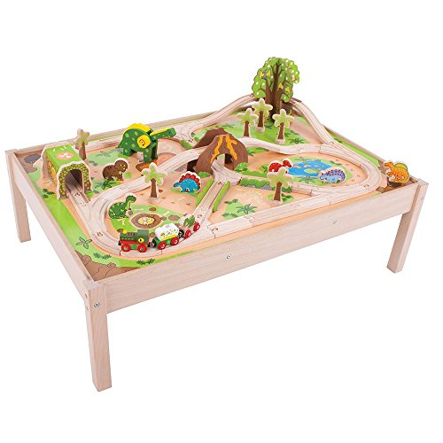 Bigjigs Rail Dinosaur Train Set and Table