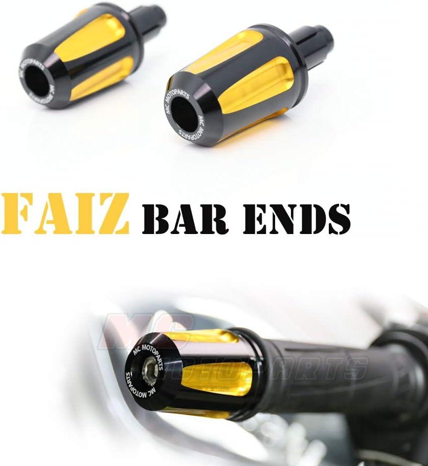 Black KAIXA CNC Bar End Sliders For Honda CBR600RR CBR1000RR 04-07 08-17 18 CBR250R CBR250RR CB300R CB500R CB1000R 2018