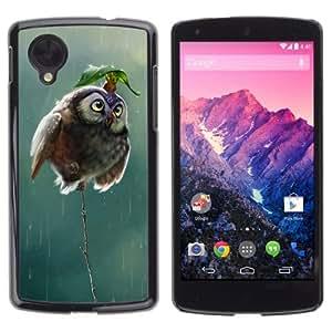 YOYOSHOP [Cute Mouse & Owl] LG Google Nexus 5 Case