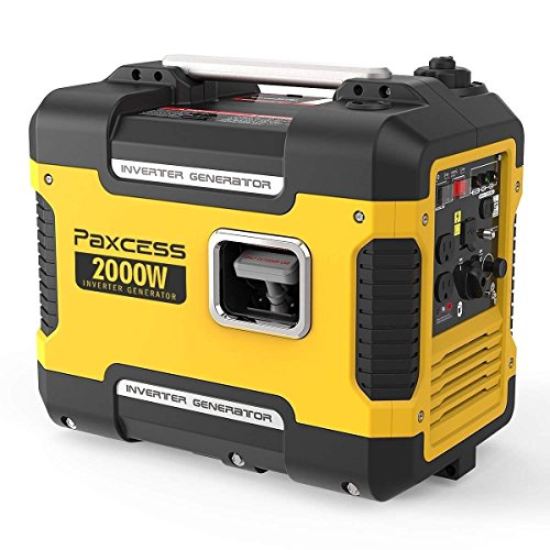 PAXCESS Portable Generator, 2000 Watts Super Quiet Inverter Generator Gas Power Generator with 9 Hours Runtime, CARB Complaint, Parallel Ready, Dual 120V AC Outlet/2 USB Ports/12V DC Output