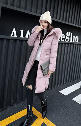 Manaches Blouson Polyester Bigood Manteau Capuche Hiver Doudoune Vogue Rose Longues U1wPq