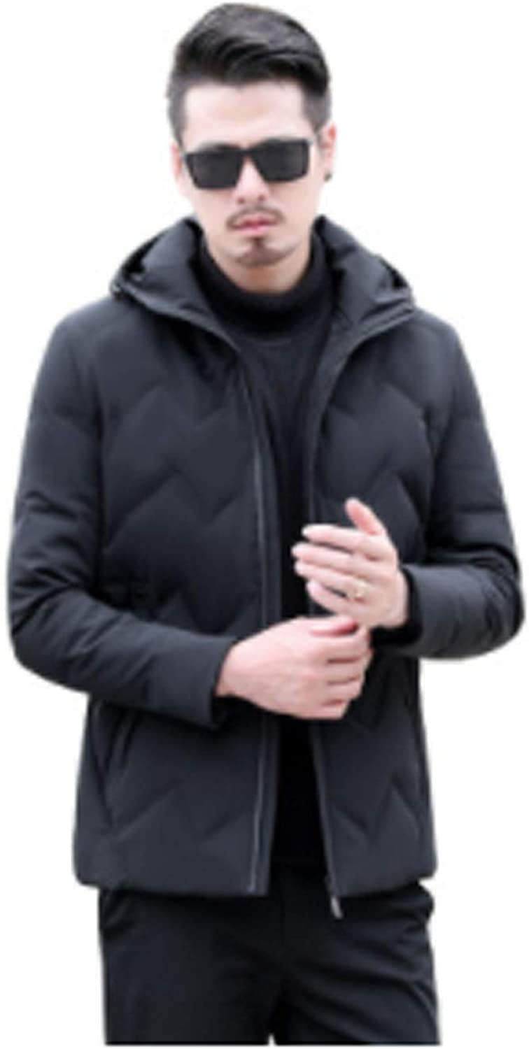 SHETAO Autumn and Winter Large Size Mens Casual Plus Loose Fat Down Jacket