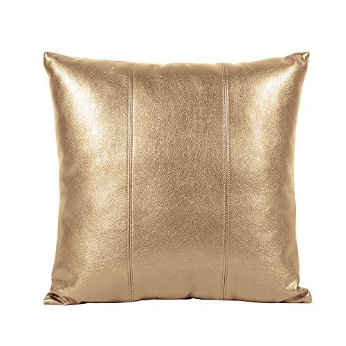 Howard Elliott 1-771 Pillow, 16 x 16-Inch, Luxe Gold - Luxe Bolster