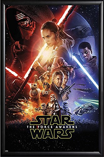 Framed The Force Awakens Theatrical One Sheet 24x36 Poster i
