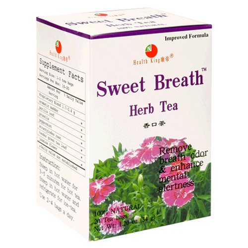 Health King  Sweet Breath Herb Tea, Teabags, 20-Count Box (Pack of 6) - 6 Bleeding Gums