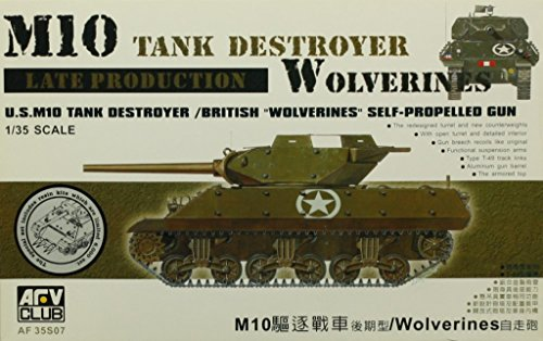 (AFV Club 1:35 US M10 Tank Destroyer Late British Wolverines SP Gun Kit #AF35S07)
