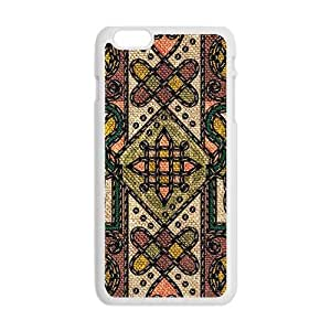 Classic Flowerr Fabric Totem Pattern Custom Protective Hard Phone Cae For Iphone 6 Plus
