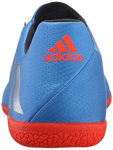 Adidas Performance Messi 16.3 en el fútbol de zapatos Shock Blue Matte Silver/Black