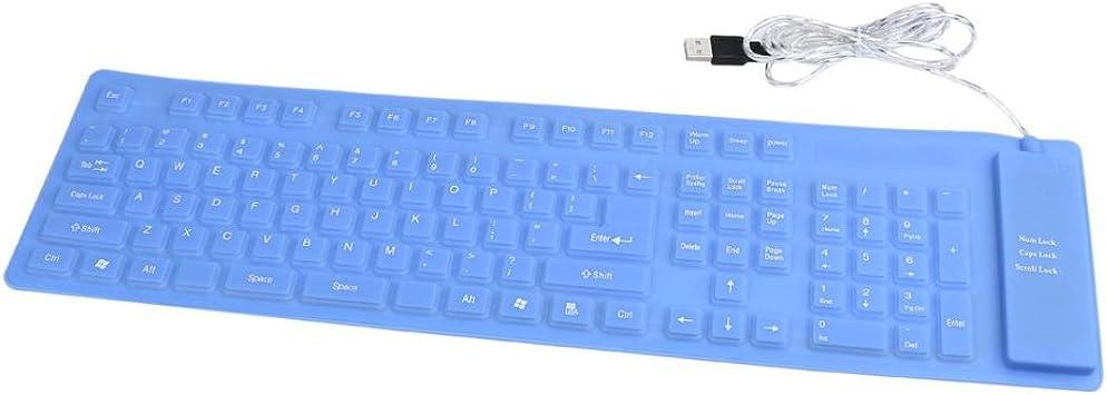 Teclado USB, ® USB Roll-up Flexible Silicona Teclado para PC ...