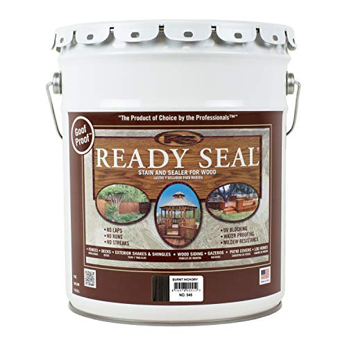 Ready Seal 545 Wood Stain, Burnt Hickory, 5-Gallon