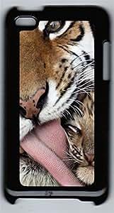 iPod 4Case Leopard Tongue PC Custom iPod 4Case Cover Black