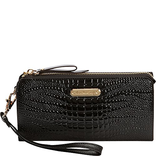 leatherbay-croco-accordion-style-clutch-black