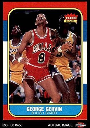 bc3a840332f3 1986 Fleer   36 George Gervin Chicago Bulls (Basketball Card) Dean s Cards  8 -