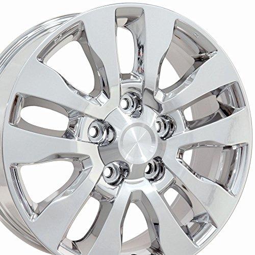 OE Wheels 20 Inch Fits Lexus LX470 LX570 Toyota Land Cruiser Sequoia Tundra Tundra Style TY11 Chrome 20x8 Rim Hollander ()