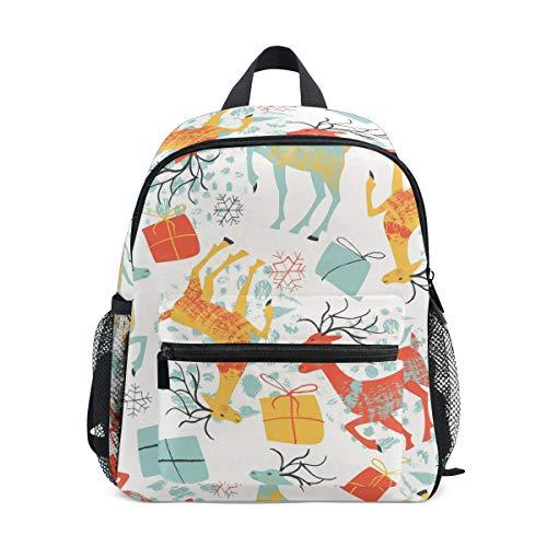Top Carpenter Primary School Backpack Bookbag Snowflakes And Deer for Toddler Boys Girls ()
