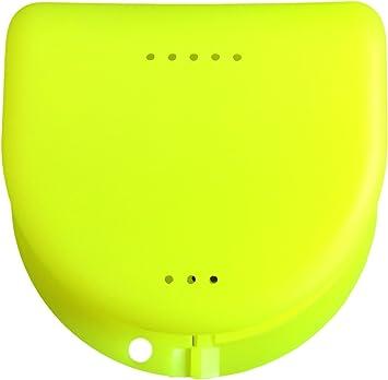 Caja para prótesis dental, frenillos, ortodoncia, aparato dental, protector bucal (Daffodil Yellow Translucent): Amazon.es: Salud y cuidado personal