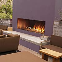 "Empire Comfort Systems Outdoor 60"" SS Manual Ignition Linear Fireplace - Natural Gas"